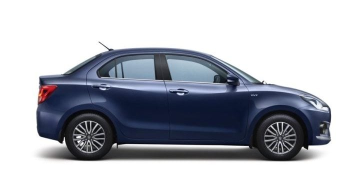 new 2017 maruti dzire review of design- side profile image