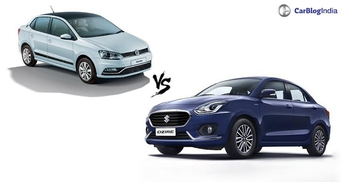 new 2017 maruti dzire vs volkswagen ameo comparison