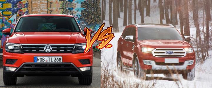 Volkswagen Tiguan vs Ford Endeavour Comparison of Price