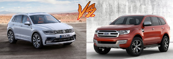 volkswagen tiguan vs ford endeavour comparison