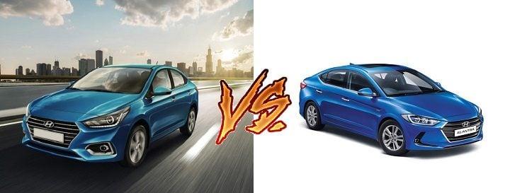 New 2017 Hyundai Verna vs Hyundai Elantra