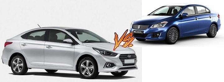 New 2017 Hyundai Verna vs Maruti Ciaz