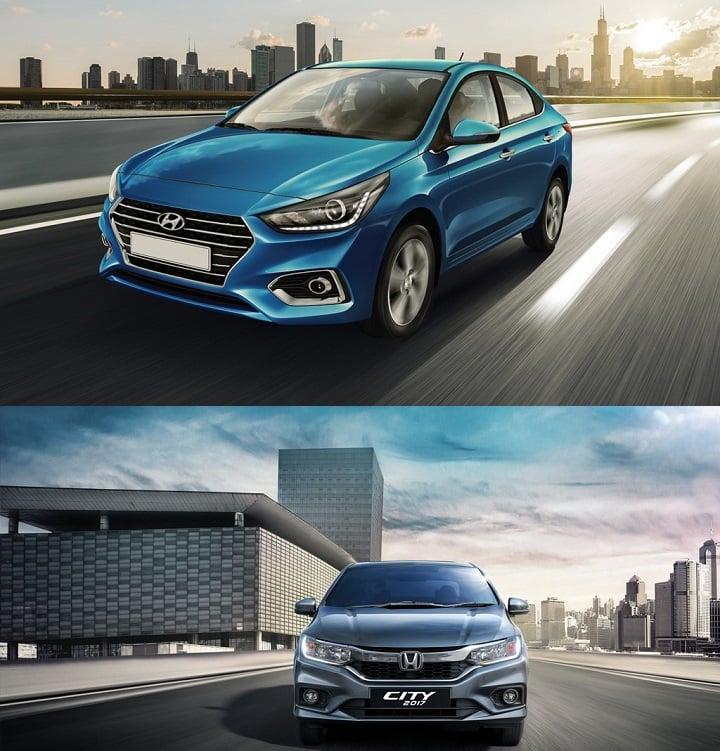 New 2017 Hyundai Verna vs Honda City