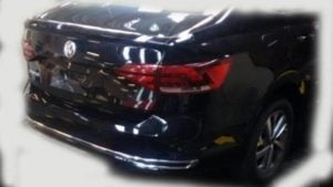 Volkswagen Virtus India Bootlid Rear Angle Spy Images