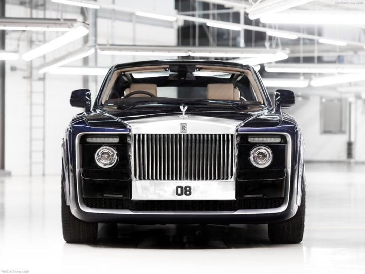 costliest car in the world rolls royce sweptail front image