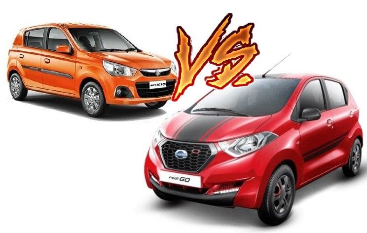 Datsun Redi Go 1000cc vs Maruti Alto K10 Compare - Price ...
