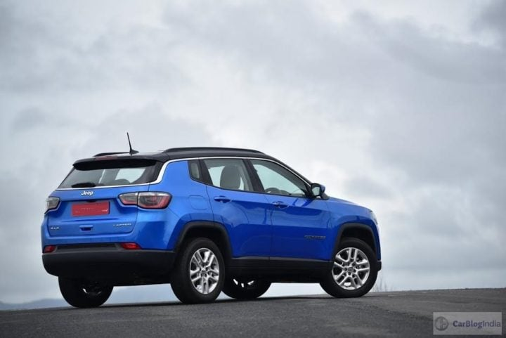 jeep compass india images rear angle