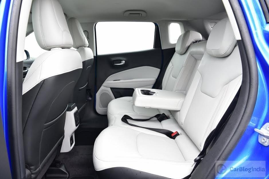 jeep compass india images interior rear seat CarBlogIndia