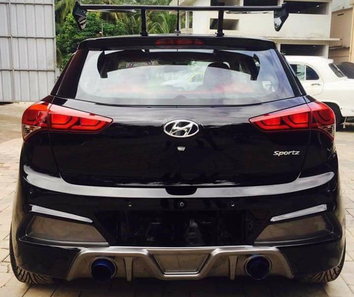 Modified Hyundai Elite I20 Images Rear Carblogindia