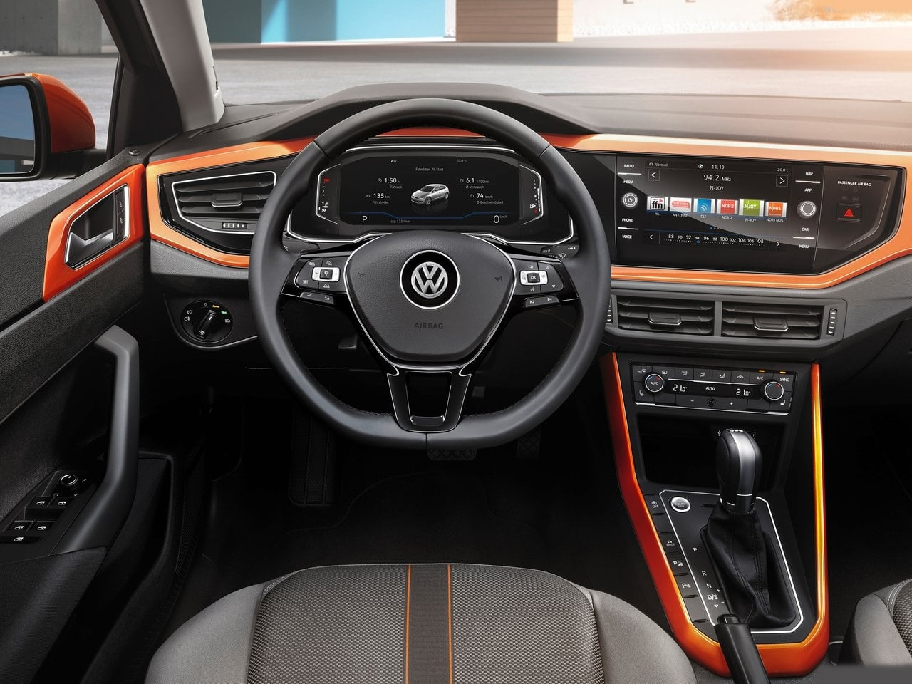 new 2018 volkswagen polo india images interior dashboard carblogindia. Black Bedroom Furniture Sets. Home Design Ideas