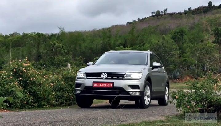 volkswagen tiguan test drive review images action cornering