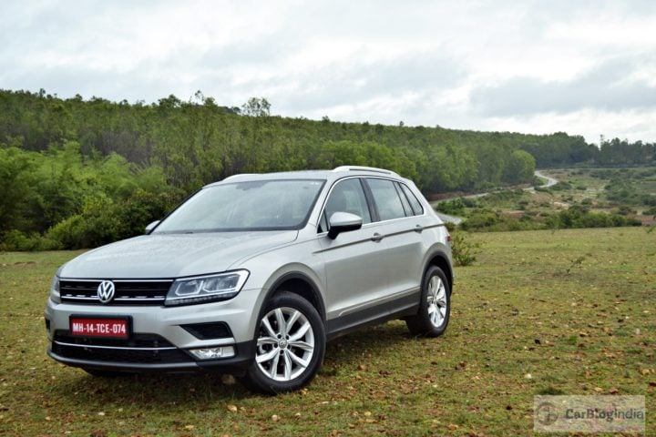 new car discounts on diwali 2017 - volkswagen tiguan test drive review images front angle