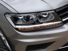 volkswagen tiguan test drive review images front headlight