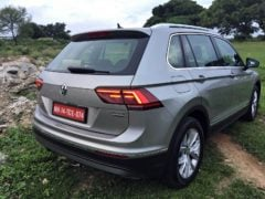volkswagen tiguan test drive review images rear angle