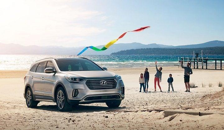 Hyundai Cars At Auto Expo 2018 - Hyundai Santa Fe Facelift