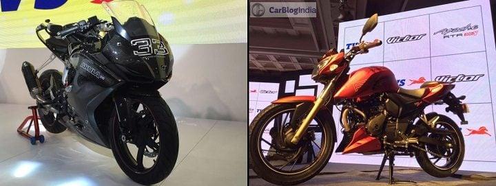 TVS Bikes At Auto Expo 2018