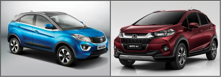 Compare Tata Nexon Vs Honda Wrv Price Specifications Mileage