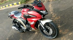 Yamaha Fazer 250 Spied Images Front Angle Dual Tone-1