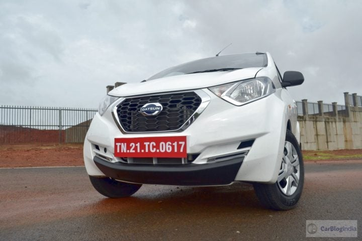 datsun redi go 1000cc images front angle