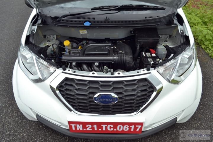 datsun redi go 1000cc review images engine compartment