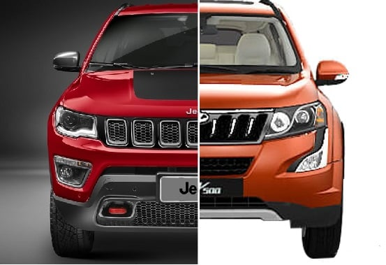 compare Jeep Compass and XUV 500