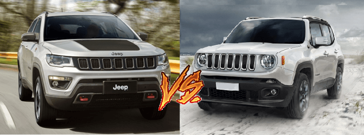 compare jeep compass and jeep renegade - price, specs, mileage