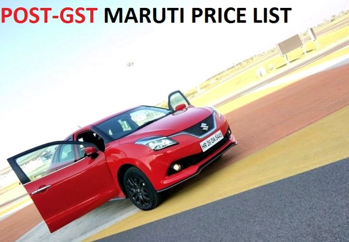 Expected Maruti Cars GST Price List  GaadiKey