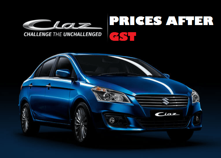Cars price compare after gst 2017 maruti suzuki 13