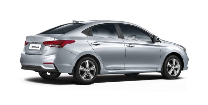new look hyundai verna images rear angle