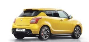 new maruti swift sport rear angle