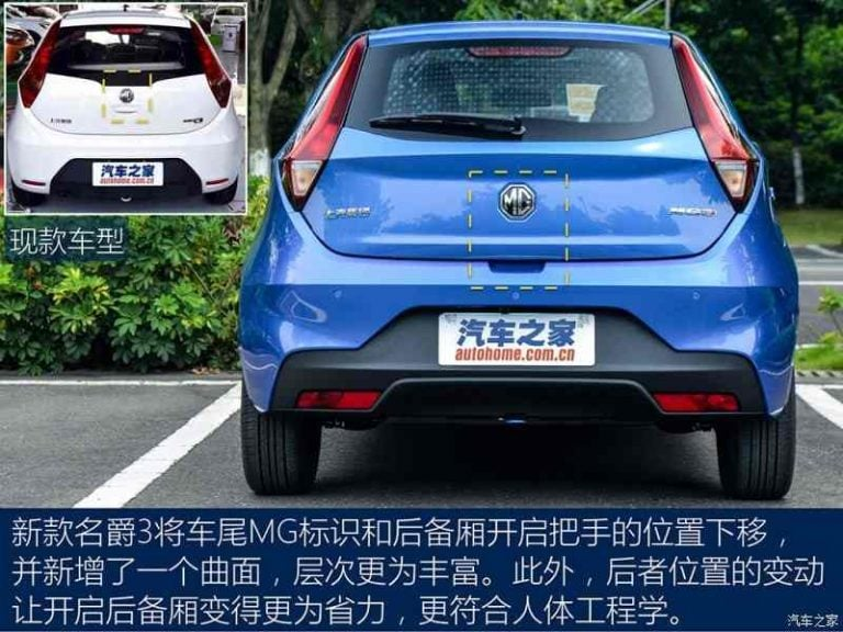 2017 MG3 India Images rear profile - CarBlogIndia