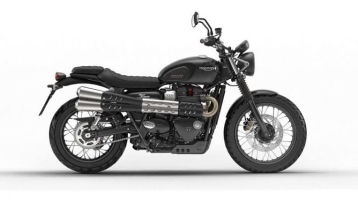 2017 Triumph Street Scrambler India Images Black Side