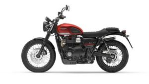2017 Triumph Street Scrambler India Images Red Side