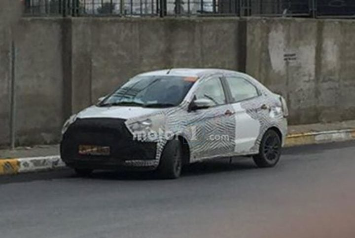 2018 ford aspire facelift images front angle
