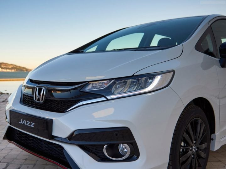 2018 honda jazz facelift images exterior headlamp bumper grille