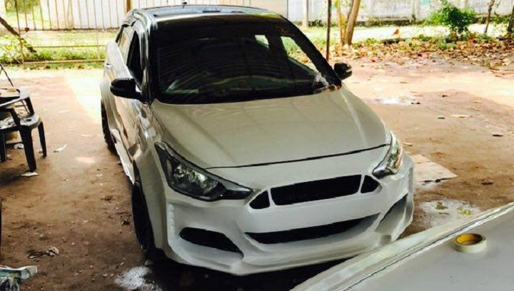 Hyundai Elite i20 Modified To Ford Mustang