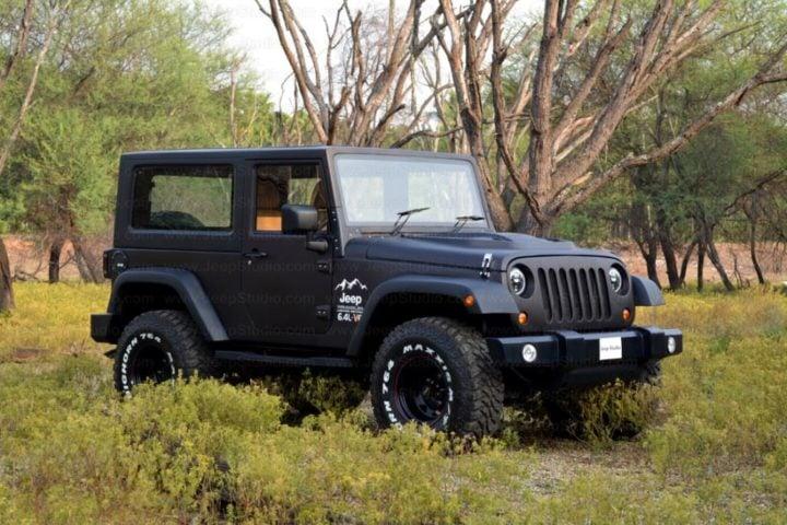 Mahindra Thar to Jeep Wrangler Modification by Jeep Studio Front Angle Image