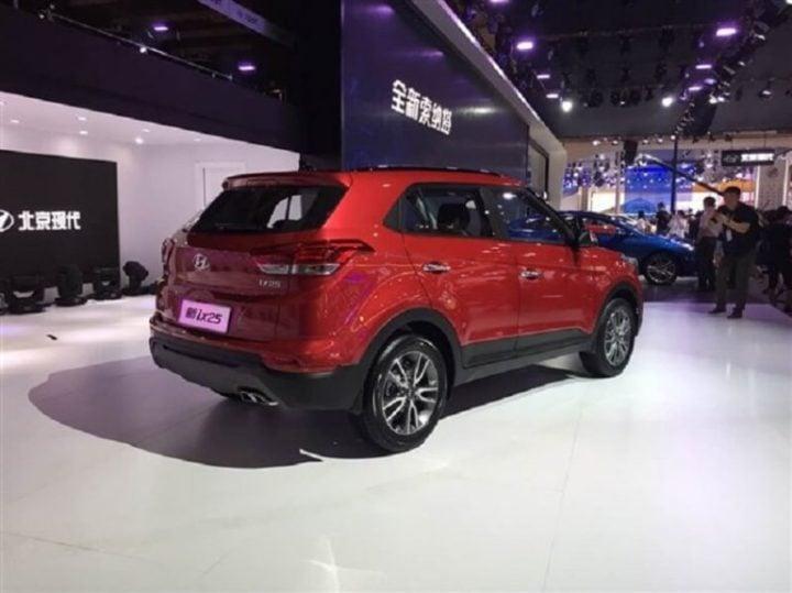 New Hyundai Creta 2018 facelift images rear angle