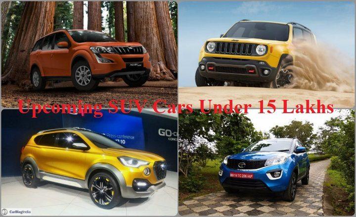 Upcoming SUV Cars Under 15 Lakhs