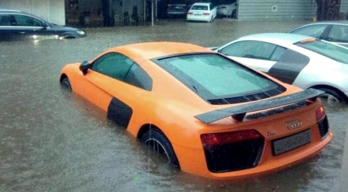 driving in flood water images