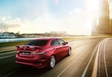 maruti ciaz s images action rear angle