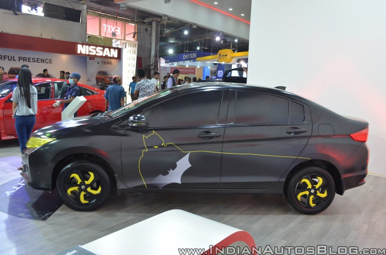 Modified Honda City Batman Edition at NATA Auto Show 2017, Nepal