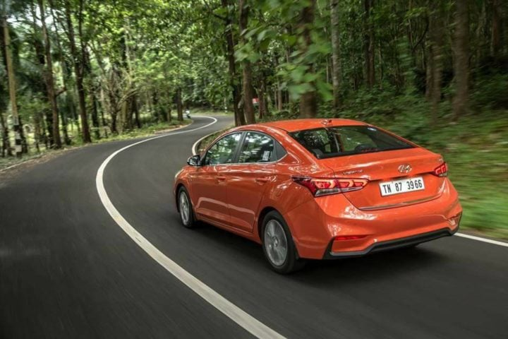 new 2017 hyundai verna test drive review images exterior rear angle action