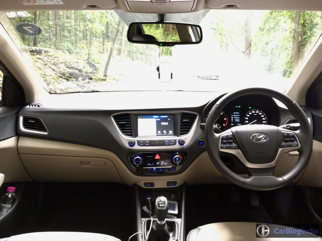 new 2017 hyundai verna test drive review images interior dashboard front view