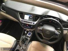 new 2017 hyundai verna test drive review images interior dashboard top view