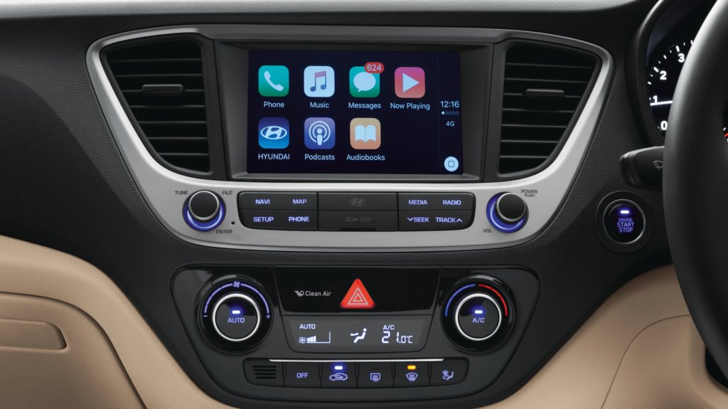 New Hyundai Verna 2017 Interior Touchscreen Images