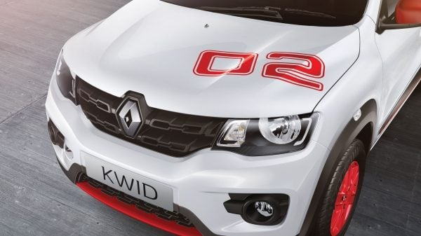 renault kwid anniversary special edition images hood decal