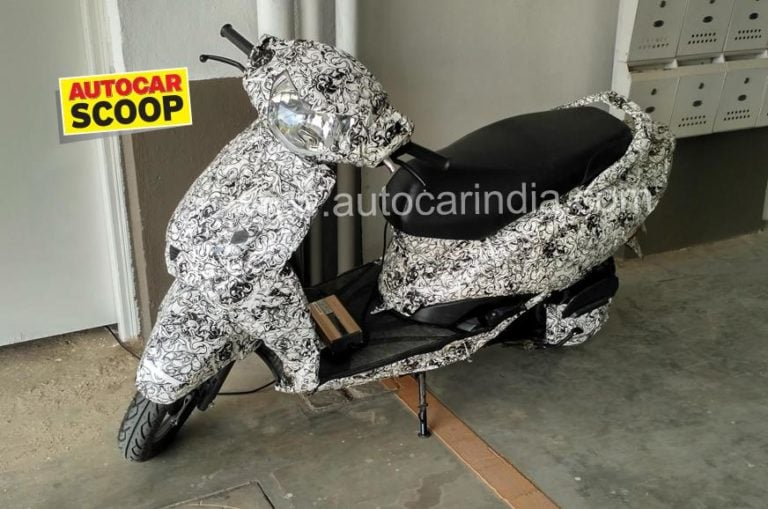 TVS Electric Scooter Spied