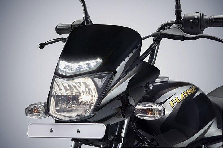 2017 Bajaj Platina Comfortec LED DRL