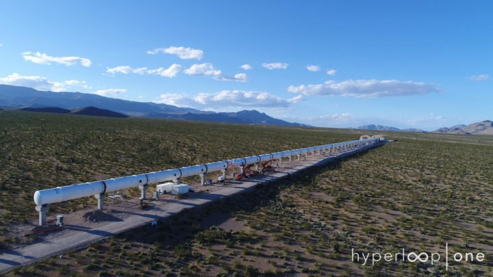 Hyperloop One Vacuum Tubes track